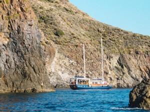 Crociera caicco Eolie: Costa ovest di Lipari